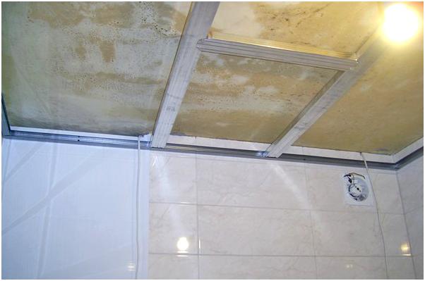Как сделать пластиковые потолки в ванной 838