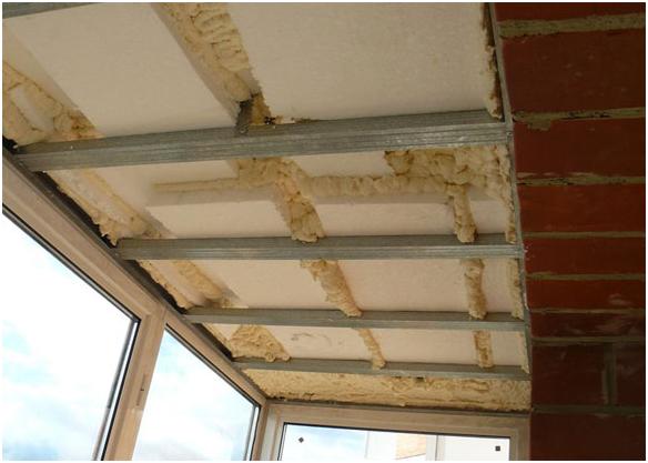 Как своими руками сделать утепление потолка на балконе, пере.