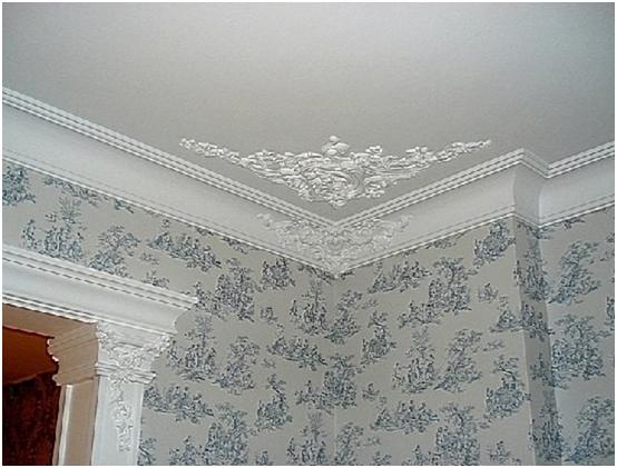 Как сделать потолок из лепнины своими руками