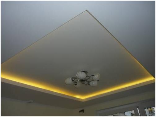 Как сделать двухуровневый потолок из гипсокартона с подсветкой
