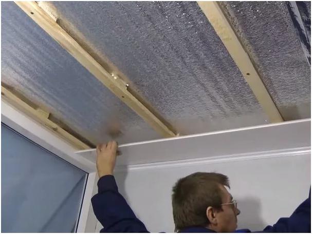 Как сделать потолок из панелей-видео