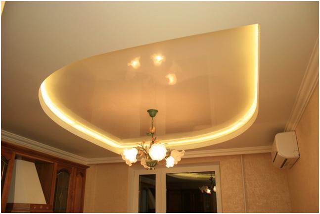 Монтаж точечных светильников в потолок из гипсокартона