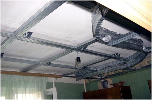 Как сделать каркас для потолков