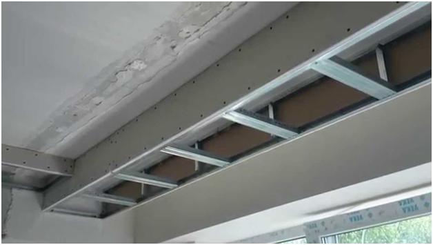 Потолок из гипсокартона под натяжной потолок