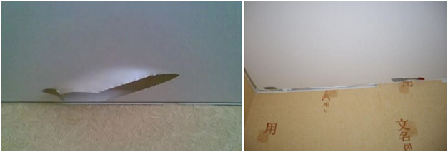 Как заделать порез в натяжном потолке своими руками
