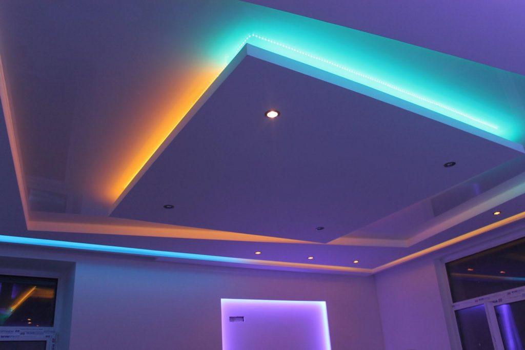 варианты освещения подвесных потолков фото карты
