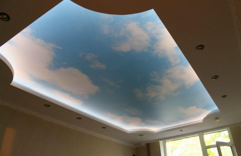 потолок под небо с подсветкой