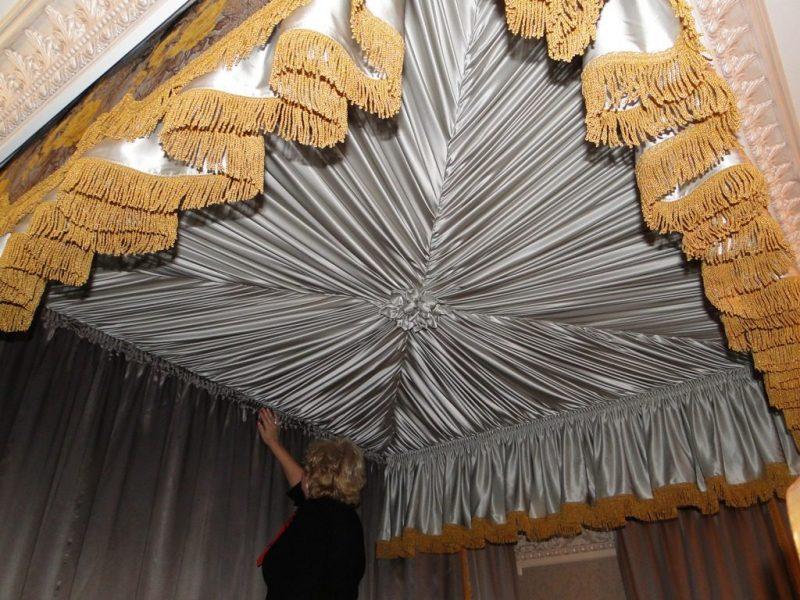 Инструкция к монтажу драпировки потолка