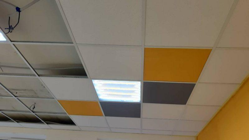 дизайнерский вариант потолка Армстронг