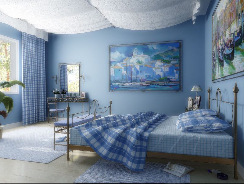 Драпировка потолка в детской комнате
