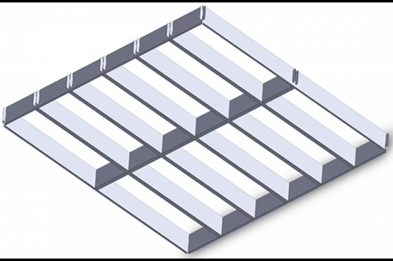 элемент растрового потолка